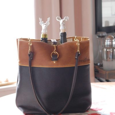 Two Toned Leather Bag