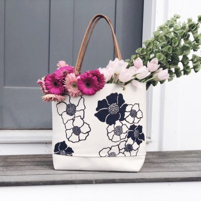 Canvas Tote Bag - Poppy