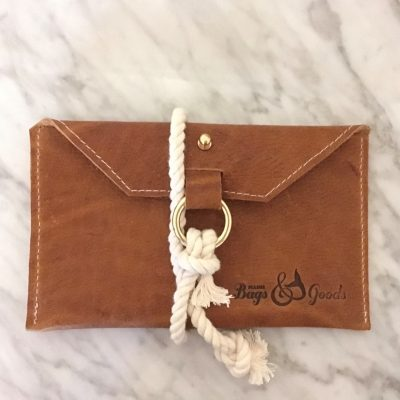 Leather Ropes Clutch